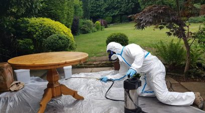 woodworm treatment removing wood boring beetle from kitchen furniture