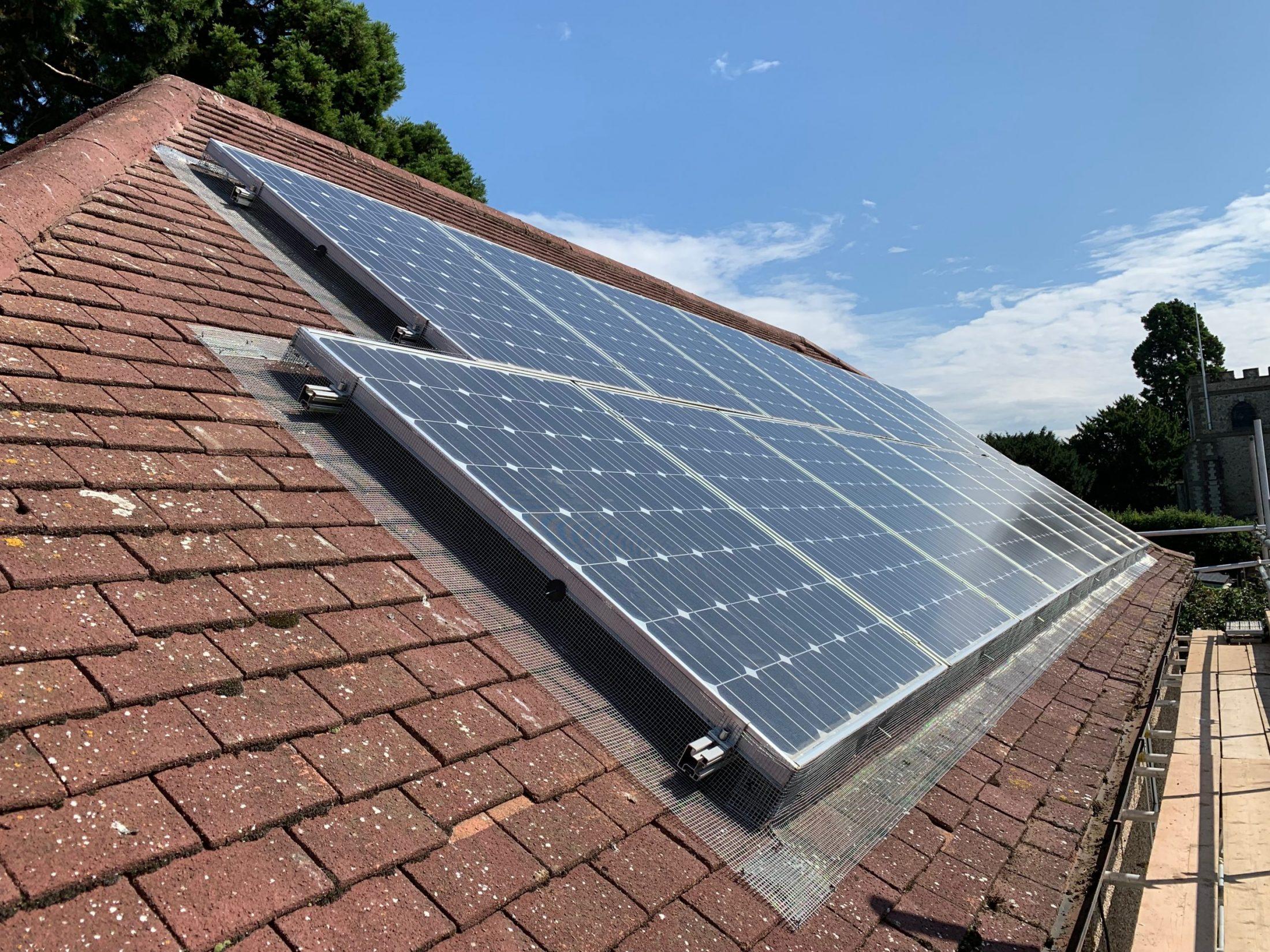 Bird Proofed Solar Panels in Maidstone