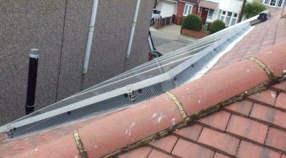 Pigeon proofed solar panels.