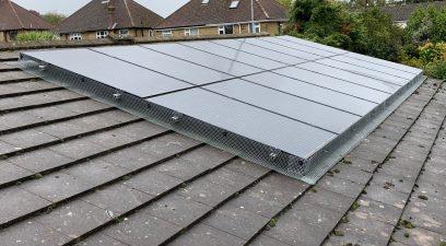 stop birds from nesting under solar panels